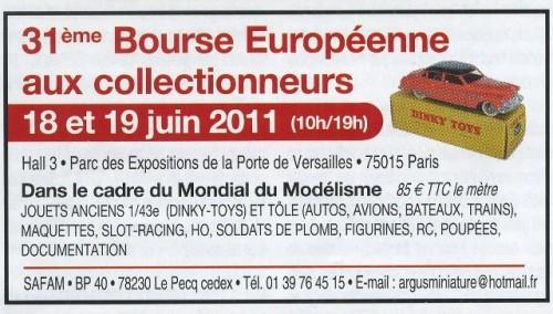 31ème Bourse Européenne aux collectionneurs